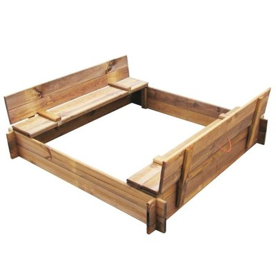 Zandbak vierkant FSC geïmpregneerd hout