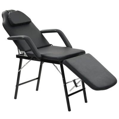 Gezichtsbehandelingsstoel draagbaar 185x78x76 cm kunstleer zwart