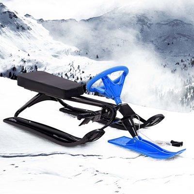 Sneeuwracer zwart en blauw