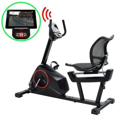 Ligfiets hometrainer magnetisch met hartslagmeter programmeerbaar