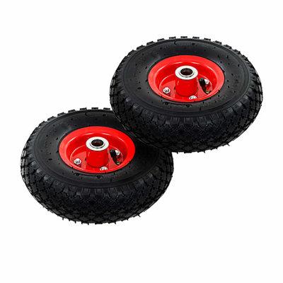 Steekwagenwielen 3,00-4 (260x85) rubber 2 st