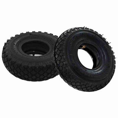 Banden/binnenbanden voor steekwagens 3,00-4 260x85 rubber 2 st