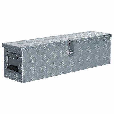 Doos 80,5x22x22 cm aluminium zilverkleurig