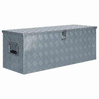 Doos 110,5x38,5x40 cm aluminium zilverkleurig