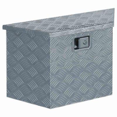 Doos trapezoïde 70x24x42 cm aluminium zilverkleurig
