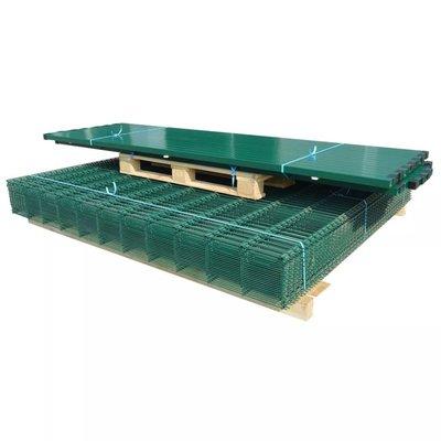 Dubbelstaafmat 2008 x 2030 mm 42 m groen 21 stuks