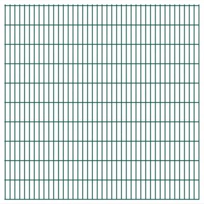 Dubbelstaafmatten 2008 x 2030mm 48m Groen 24 stuks