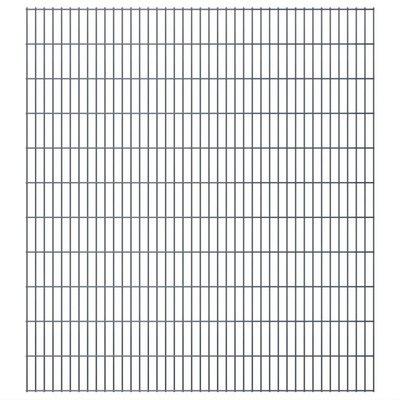 Dubbelstaafmat 2008 x 2230 mm 4 m grijs 2 stuks