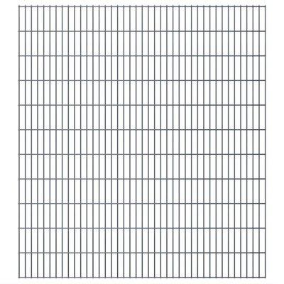 Dubbelstaafmat 2008 x 2230 mm 16 m grijs 8 stuks