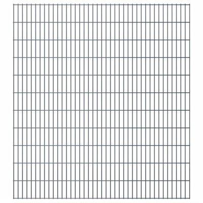 Dubbelstaafmat 2008 x 2230 mm 18 m grijs 9 stuks