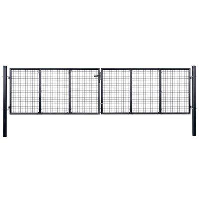 Hekpoort 400x75 cm mesh gegalvaniseerd staal grijs