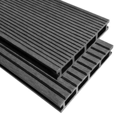 Terrasplanken HKC met accessoires 40 m² 2,2 m grijs