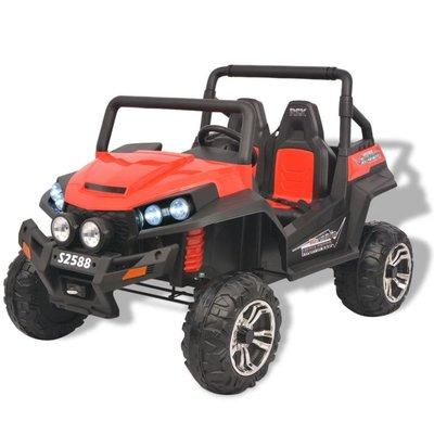 Elektrische speelgoedauto voor 2 personen rood en zwart XXL