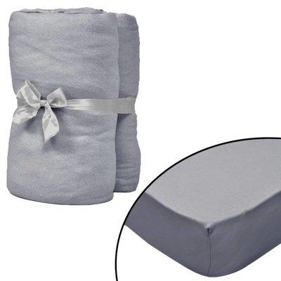 Hoeslaken voor wiegje 70x140 cm katoenen jersey stof grijs 4 st