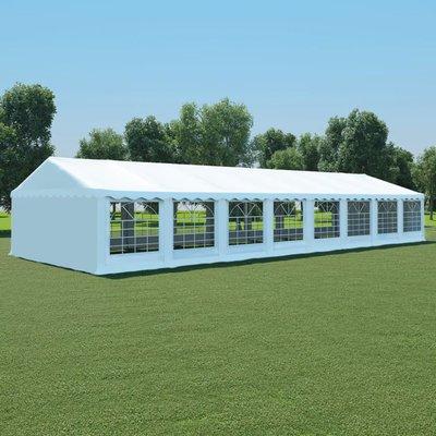 Tuinpaviljoen 6x16 m PVC wit