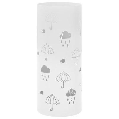Parapluhouder paraplu's staal wit