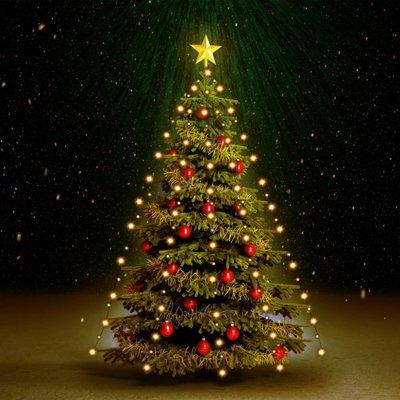 Kerstboom netverlichting 180 LED's binnen en buiten IP44 180 cm