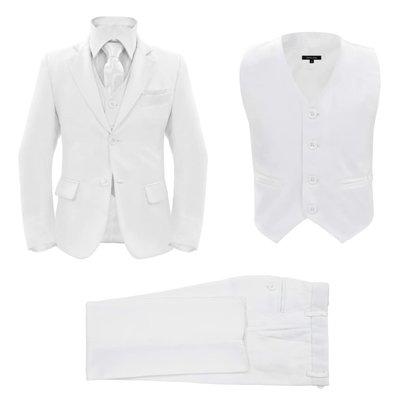 Driedelig kostuum voor kinderen maat 128/134 wit