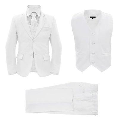 Driedelig kostuum voor kinderen maat 140/146 wit