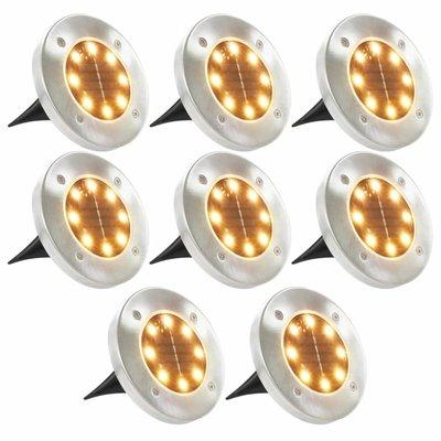 Solargrondlampen LED-lichten warm wit 8 st