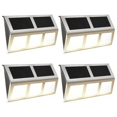 Solarlampen LED-lichten warm wit 4 st