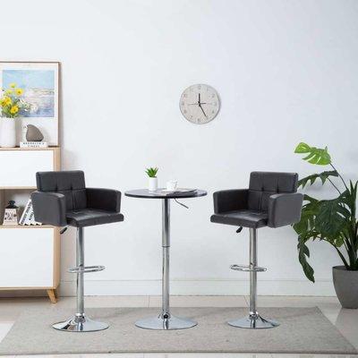 Barstoel draaibaar 61x54x112 cm kunstleer zwart 2 st