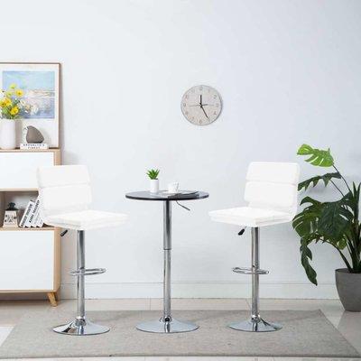 Barstoel draaibaar 44x50x114 cm kunstleer wit 2 st