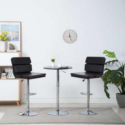 Barstoel draaibaar 44x50x114 cm kunstleer zwart 2 st