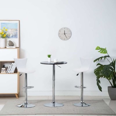 Barstoel draaibaar 40x47x105 cm kunstleer wit 2 st
