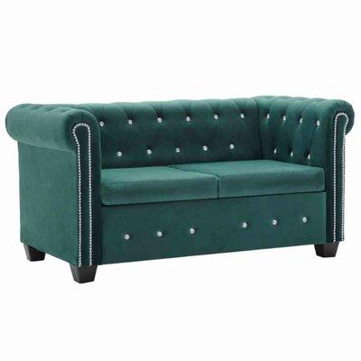 Tweezitsbank Chesterfield-stijl 146x75x72 cm fluweel groen