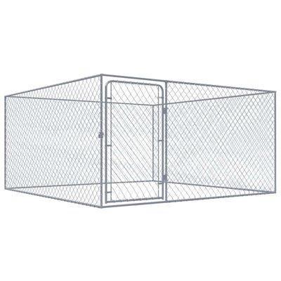 Hondenkennel voor buiten 2x2 m gegalvaniseerd staal