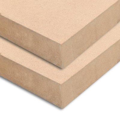 MDF plaat rechthoekig 120x60 cm 25 mm