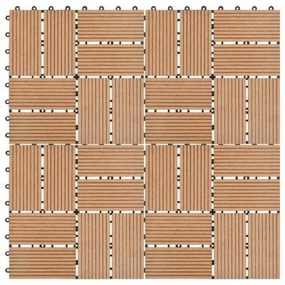 Terrastegels 30x30 cm 1 m² HKC teakkleur 11 st