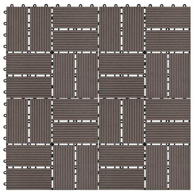 Terrastegels 30x30 cm 1 m² HKC donkerbruin 11 st