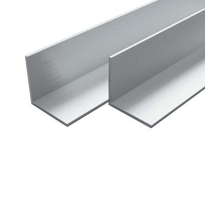 Hoekbuizen L-profiel 1m 20x20x2 mm aluminium 4 st