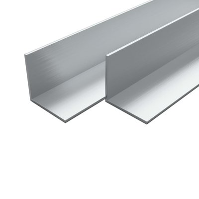 Hoekbuizen L-profiel 2m 20x20x2 mm aluminium 4 st