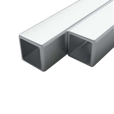 Buizen vierkant stekkersectie V2A 2m 40x40x1,9mm rvs 2 st