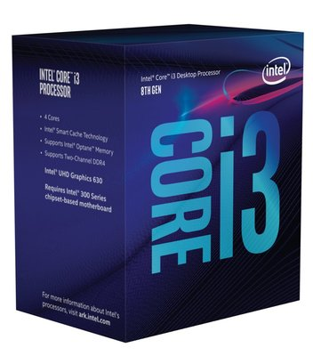 Intel Core i3-8350K 8th /4Ghz / Quad Core/ LGA1151