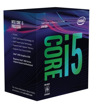 Intel Core i5-8600 processor 3,1 GHz Box 9 MB Smart Cache