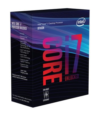 Intel Core i7-8700K processor 3,7 GHz Box 12 MB Smart Cache