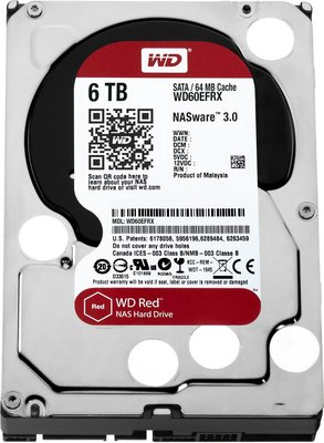 HDD WD Red™ 6TB IntelliPower - 64MB - SATA3