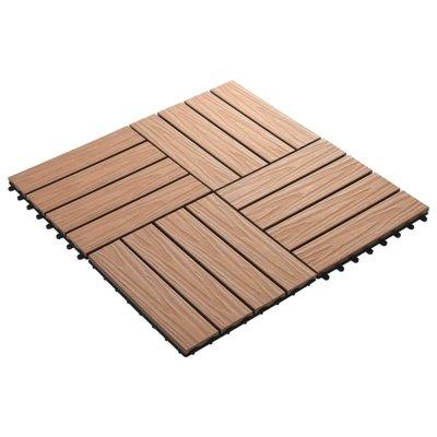 Terrastegels diep reliëf 30x30 cm 1 m² HKC lichtbruin 11 st