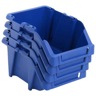 Opbergbakken stapelbaar 125x195x90 mm blauw 150 st
