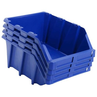 Opbergbakken stapelbaar 218x360x156 mm blauw 35 st