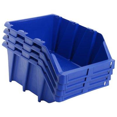 Opbergbakken stapelbaar 310x490x195 mm blauw 15 st