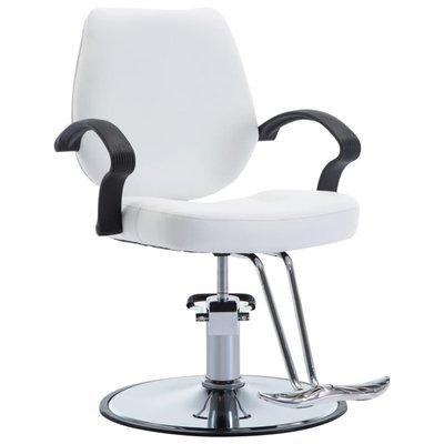 Kappersstoel kunstleer wit