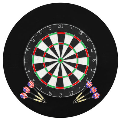 Dartbord professioneel met 6 darts en surround sisal