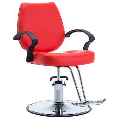 Kappersstoel kunstleer rood