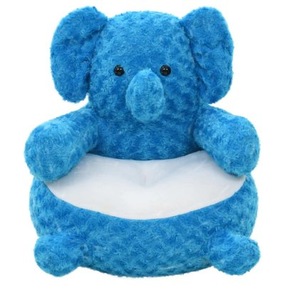 Knuffel olifant pluche blauw