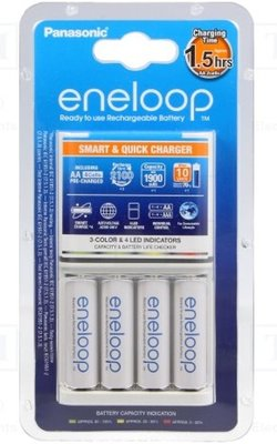 Panasonic Eneloop CC55 Smart-Quick Charger + 4x Eneloop AA 1900 mAh